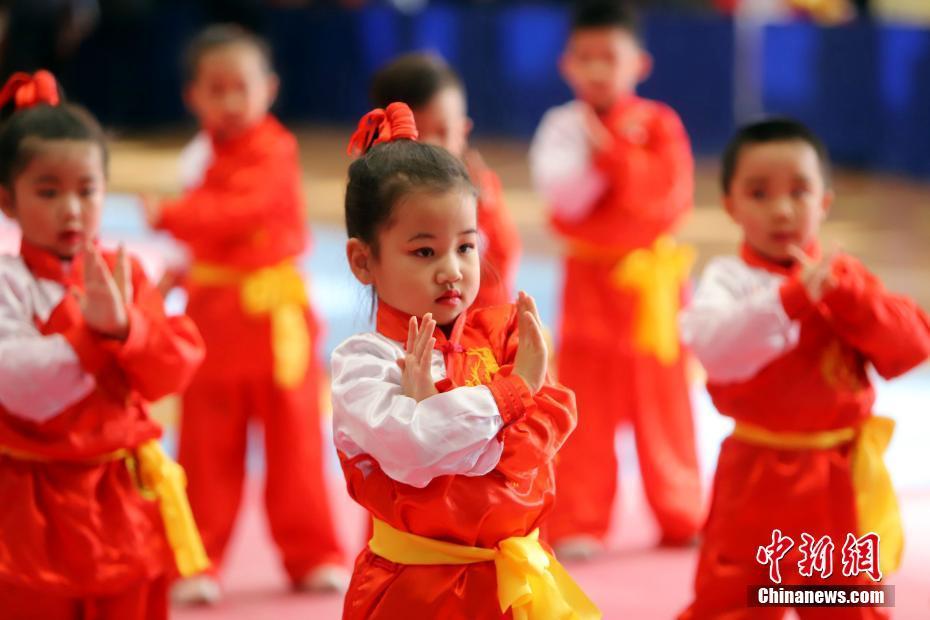 天津市第四届幼儿武术运动大会开幕