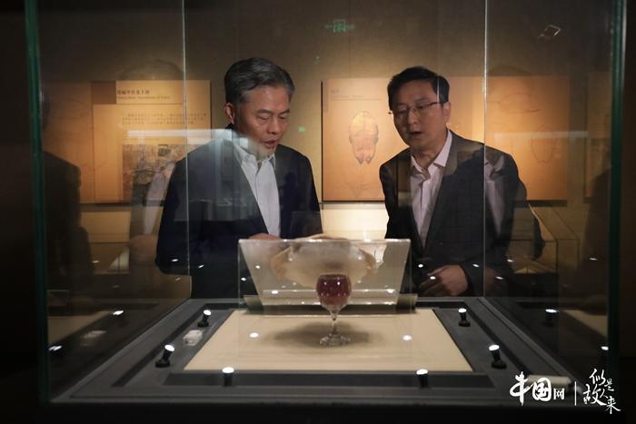 汉字篇: 王晓辉与黄德宽参观殷墟遗址