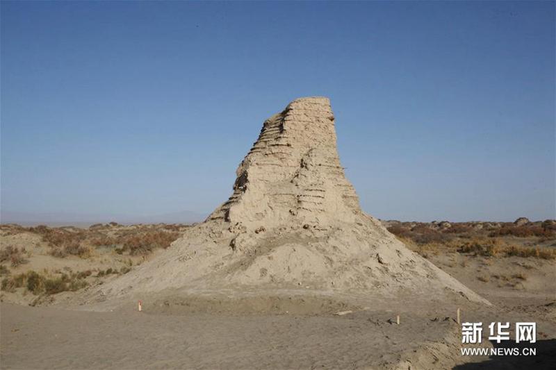 新疆尉犁县克亚克库都克烽燧遗址出土700多件唐代纸文书和木牍