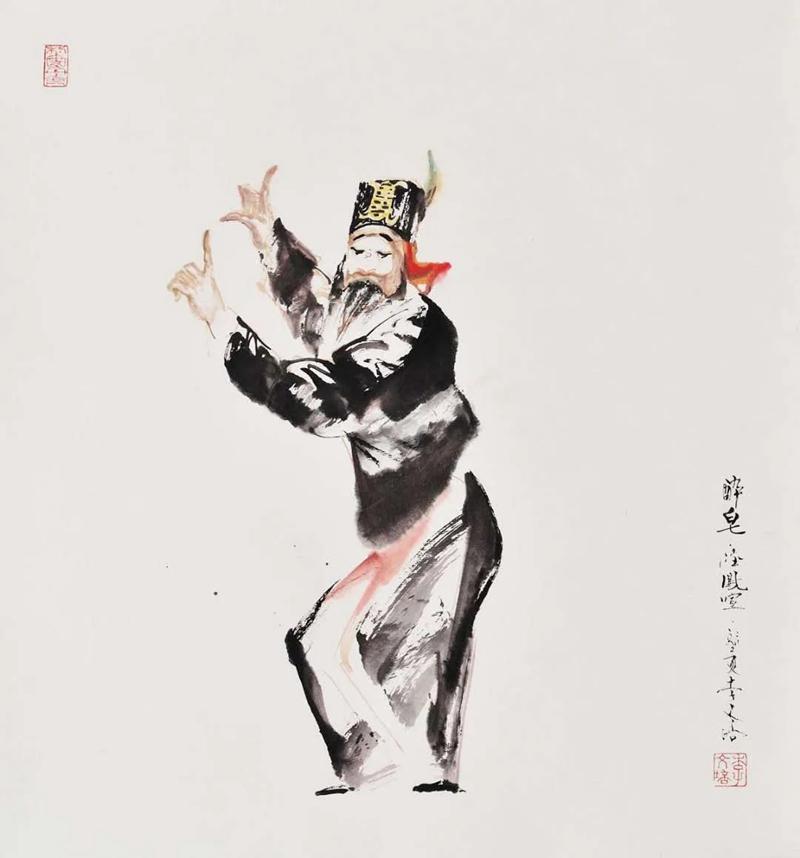笔融千姿_墨绘万象――记著名水墨戏曲人物画家李文培